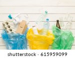 recycling and ecology. sorting  ...   Shutterstock . vector #615959099