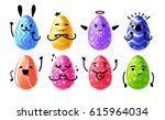 set design emotional eggs for... | Shutterstock .eps vector #615964034