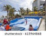hollywood beach  fl  usa  ... | Shutterstock . vector #615964868
