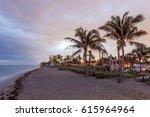 beatiful dania beach at dusk.... | Shutterstock . vector #615964964