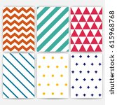 pattern set. geometric vector... | Shutterstock .eps vector #615968768