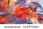 water and flame. bright red and ... | Shutterstock . vector #615972464