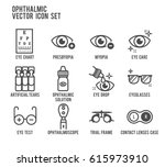 Ophthalmic Eye Care Vector Ico...