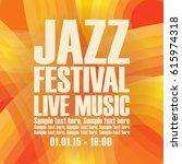 vector poster for a jazz... | Shutterstock .eps vector #615974318
