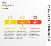 step by step infographics... | Shutterstock . vector #615974528