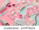 fashion design woman clothes... | Shutterstock . vector #615976616