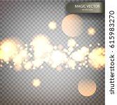 magic vector luminous... | Shutterstock .eps vector #615983270