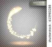 magic vector luminous... | Shutterstock .eps vector #615983288