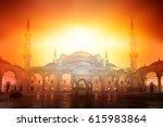 the blue mosque | Shutterstock . vector #615983864