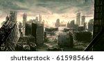 digital illustration of... | Shutterstock . vector #615985664
