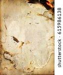 paper texture of burning fire... | Shutterstock . vector #615986138
