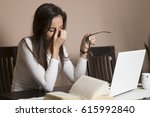 tired student concept with... | Shutterstock . vector #615992840