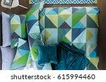 modern bedroom in luxury... | Shutterstock . vector #615994460