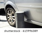scratch by car because of an... | Shutterstock . vector #615996389