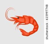 vector illustration of shrimp...   Shutterstock .eps vector #615997748