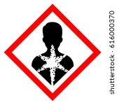 serious health hazard symbol.... | Shutterstock .eps vector #616000370