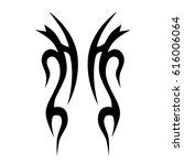 tattoo tribal vector designs.... | Shutterstock .eps vector #616006064