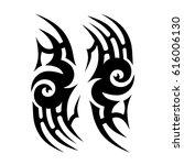 tattoo sketch tribal vector... | Shutterstock .eps vector #616006130