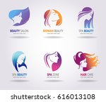 silhouettes of a girl in... | Shutterstock .eps vector #616013108