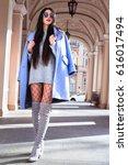 full length high fashion... | Shutterstock . vector #616017494