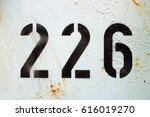 Number 226     Black Stencil...