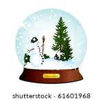 snow dome winter theme | Shutterstock .eps vector #61601968