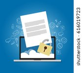 content security file... | Shutterstock .eps vector #616019723