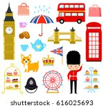 set of cute cartoons related to ... | Shutterstock .eps vector #616025693
