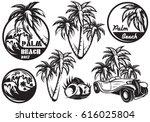 a set of monochrome templates... | Shutterstock .eps vector #616025804