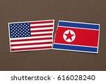 a torn relationship between usa ... | Shutterstock . vector #616028240