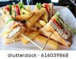 sandwich   chicken club... | Shutterstock . vector #616039868