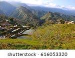 terraced rice field in cat cat  ...   Shutterstock . vector #616053320