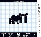 set of gifts and toy heart icon....