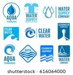 fresh water vector logos and... | Shutterstock .eps vector #616064000