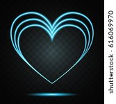 happy valentine's day. bright... | Shutterstock .eps vector #616069970