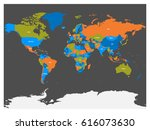 political map of world with... | Shutterstock .eps vector #616073630