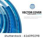 technology abstract blue... | Shutterstock .eps vector #616090298