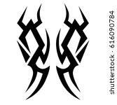 tribal tattoo art designs.... | Shutterstock .eps vector #616090784