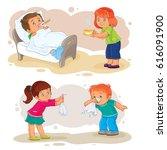 set of clip art illustrations... | Shutterstock . vector #616091900