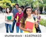 latin american female student... | Shutterstock . vector #616096610