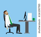 overworked and tired... | Shutterstock . vector #616100783