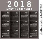 simple 2018 year vector... | Shutterstock .eps vector #616100948