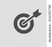 target arrow vector icon eps 10.... | Shutterstock .eps vector #616101740