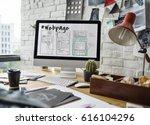 webpage content design website... | Shutterstock . vector #616104296