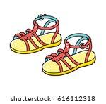 sandals isolated. | Shutterstock .eps vector #616112318
