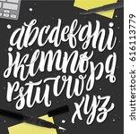 handmade alphabet for your... | Shutterstock .eps vector #616113779