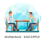 businessmen discussing strategy ... | Shutterstock .eps vector #616114913