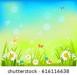 summer light background with... | Shutterstock .eps vector #616116638