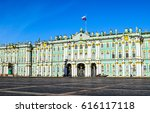 Winter Palace On Palace Square...