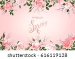 hello spring background with... | Shutterstock .eps vector #616119128